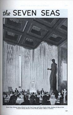 Grand Dining Salon, SS Normandie
