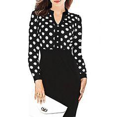 vestido de lunares empalme cuello en v de Dolce de las mujeres 2015 – $317.71