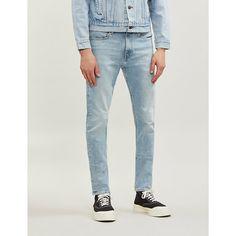 Ck Jeans 016 Slim-fit Skinny Jeans In Arnaud Blue Ck Jeans, Denim Jeans, Skinny Jeans, Slogan Tee, Summer Wear, Stretch Denim, Tees, Shirts, Calvin Klein