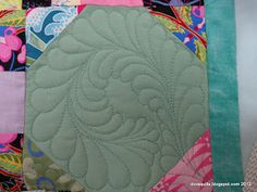 Dora Quilts: Tutorial: How to Quilt a Plume in a Snowball