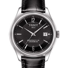 Montre Tissot T-Classic Ballade Powermatic 80 cadran noir bracelet cuir noir 41 mm Gents Watches, Watches For Men, Latest Watches, Swatch, Spring Watch, Bracelet Cuir, Kay Jewelers, Mechanical Watch, Beautiful Watches