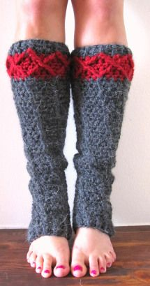 free pattern crochet leg warmers. Make them short for the top of the boot