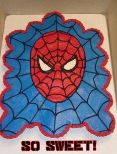 Spiderman Cake Ideas for Little Super Heroes - Novelty Birthday Cakes Superhero Birthday Cake, Novelty Birthday Cakes, Superhero Party, 4th Birthday, Birthday Ideas, Pull Apart Cupcake Cake, Cupcake Cakes, Spiderman, Best Christmas Toys