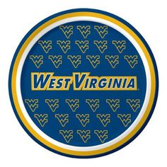 Pack of 96 Ncaa West Virginia Mountaineers Round Tailgate Party Paper Plates 7 - Blue