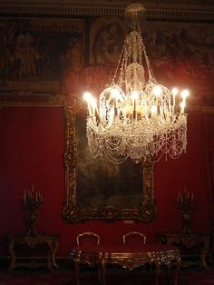 A Downton Abbey chandelier for certain. Can't you just imagine overhearing gossipy conversation 'neath this lighting fixture? Great Comet Of 1812, The Great Comet, Chandelier Bougie, Chandelier Lighting, Crystal Chandeliers, Gothic Chandelier, Crystal Lights, Bubble Chandelier, French Chandelier