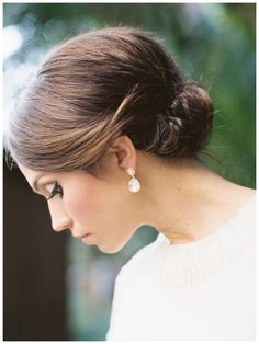 Bride's hair and makeup by Marz Makeup and Hair, image by Gianny Campos Photography.
