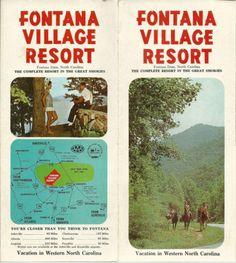 Fontana-Village-Resort-North-Carolina-Vintage-1970-039-s-Brochure-Color-Photos-Map