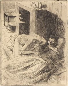 ALBERT BESNARD Misery (La Misère), c. 1886