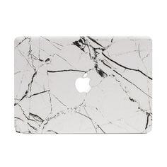 Hyper Marble MacBook Skin - White by #UNIQFIND | #macbook