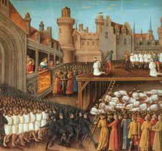 King Richard I (the Lionheart) massacres 2700 Saracens, 1191.