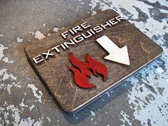 Fire Extinguisher Icon Sign Modern Interior Design by grayskunk