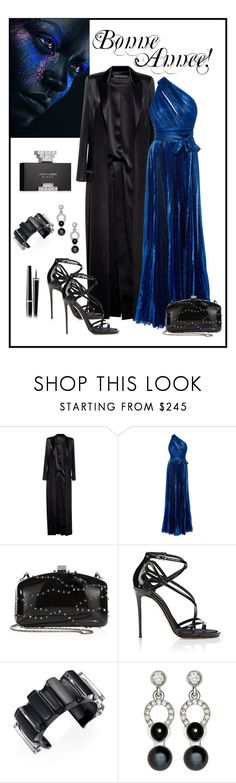 """Elie Saab Lame Crepe One Shoulder Gown"" by romaboots-1 ❤ liked on Polyvore featuring Anthony Vaccarello, Elie Saab, Valentino, Dolce&Gabbana, Alexis Bittar, Nathalie Jean and Chanel"
