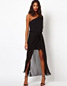 ASOS One Shoulder Dress with Split Front