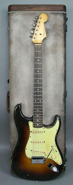 1960 Fender Stratocaster Vintage Original PRE CBS Electric Guitar Sunburst OHSC