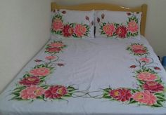 1 million+ Stunning Free Images to Use Anywhere Brush Embroidery, Hand Embroidery Flowers, Bed Sheet Painting Design, Fabric Painting, Fabric Paint Designs, Stencil Designs, Fabric Paint Shirt, Sheet Curtains, Bed Cover Design