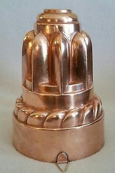 Antique 19th Century English Tall Copper Aspic Jelly Mold Mould marked '209'