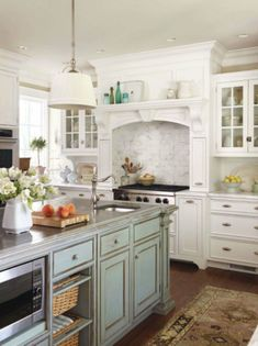 Great island.  Kitchen and Bath Ideas: February 2012 | Visual Comfort & Co. Blog