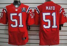 867bfa977 New England Patriots  51 Jerod Mayo 2015 Super Bowl XLIX Championship Red  Elite Jersey Joe