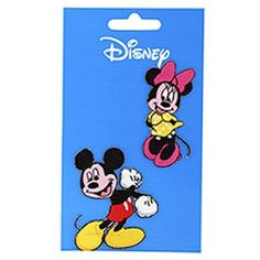 2 PARCHES BORDADOS MICKEYMINNIE