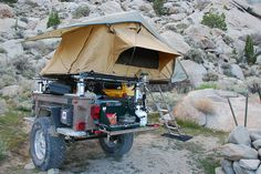 trailer with Roof Tent by drmoab Trailer Tent, Off Road Camper Trailer, Small Trailer, Trailer Build, Expedition Trailer, Overland Trailer, Expedition Vehicle, Atv Trailers, Adventure Trailers