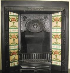 Edwardian fireplace and tiles www.britainsheritage.co.uk