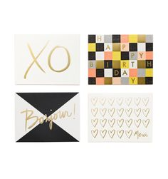Graphic Assorted Set Set of 8 folded cards, 2 of each design