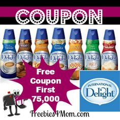 75,000 FREE International Delight products will be given away March 14 at 11:00 pm CT http://freebies4mom.com/2013/03/14/international-delight/