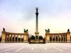 Heroes Square in Budapest, Hungary.