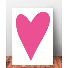 """Plakat Dziecięcy """"LoveYou"""".Pastelowe kolory świetnie komponują się z sobą, dzięki czemu z łatwością można stworzyć własną kompozycję kilku serc, które pięknie ozdobią ścianę w pokoiku."""