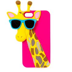 Silicone Giraffe with Sunglasses Phone Case- iPhone 3d Iphone Cases, Girly Phone Cases, Disney Phone Cases, Phone Covers, Coque Iphone 5s, Iphone 7, Silicone Phone Case, Cute Cases, Just In Case