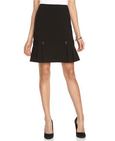 AGB Skirt, Pleated Button Tab Peplum - Womens Skirts - Macy's
