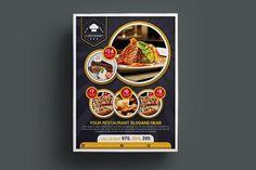Restaurant Flyer Templates by designsoul14 on @creativemarket