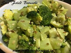 Learn on vegibites step by step instructions on how to make easy stir-fried broccoli recipe. Very nutritious; quick to prepare, can be had as salad also.