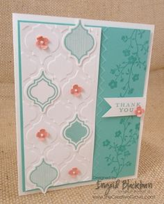 Mosaic Madness and Morning Meadow Sneak Peek using new In Colors.  More details and photos at www.thecreativegrove.com #papercrafts #stampinup