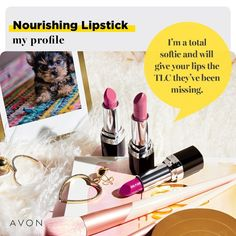 Avon True Color Nourishing Lipstick Give your lips some TLC with high-impact color, moisturizing texture and a creamy feel. National Lipstick Day, Avon Lipstick, Root Touch Up, Perfect Lipstick, Avon True, Best Lipsticks, Shops, Free Makeup, True Colors