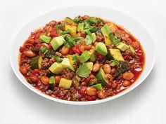 Beef and Summer Squash Chili recipe from Food Network Kitchen via Food Network