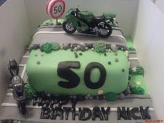 Motorbike cake made for my mums friend nick for his 50th.