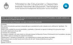 EDUCACIÓN TECNOLÓGICA ARGENTINA: Las estrategias didácticas del campo de formación ...