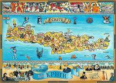 Κρητικό γλωσσάρι Όχι δεν είναι το λεξικό της κρητικής διαλέκτου αλλά μια εισαγωγή , καταγραφή στις πιό συνηθισμένες κτητικές λέξεις , αν ψάχνετε πλήρη κρητικό λεξικό το άρθρο αυτό πάρτε το σαν εισαγωγή. Minoan Art, Us Sailing, Magnet, Crete Greece, Greece Travel, Cartography, Map Art, Painting, Maps