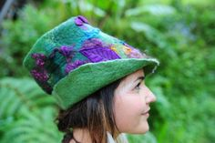 Felt Magical Leaf Butterfly Pixie Hat OOAK