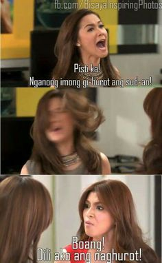Are you a primetime bida-bidahan or a kween of telebabad? Tagalog Quotes, Qoutes, Funny Quotes, Filipino Funny, Hugot Quotes, Visayas, Little Books, Pinoy, In This Moment