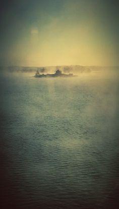 Morning fog in Turku archipelago