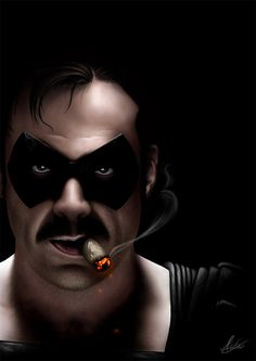 The comedian portrayed by jefferey dean morgan...yum!  The watchmen! Realistic Digital Paintings by Aaron Griffin | Inspiration Grid | Design Inspiration
