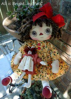 Primitive Raggedy Annie Doll Darla by Allisbright on Etsy