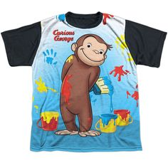 "Checkout our #LicensedGear products FREE SHIPPING + 10% OFF Coupon Code ""Official"" Curious George/paint All Over - S/s Youth White Front Black Backt- Shirt - Curious George/paint All Over - S/s Youth White Front Black Backt- Shirt - Price: $24.99. Buy now at https://officiallylicensedgear.com/curious-george-paint-all-over-s-s-youth-white-front-black-backt-shirt-licensed"