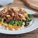 Pulled chicken met rijst en cashewnoten | Eat.Pure.Love