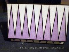 Sharkskin Purple & White Decorative Box | The Decorating Diva, LLC  Absolutely love this beautiful decorative box.