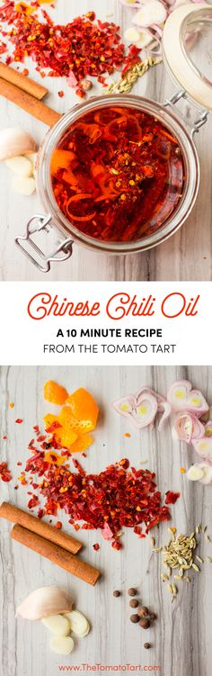 Way better than the store bought stuff! Way better than the store bought stuff! Source by thetomatotart Best Gluten Free Recipes, Primal Recipes, Delicious Vegan Recipes, Cooking Recipes, Cooking Tips, Vegetarian Recipes, Chinese Chili Oil, Chinese Food, Salsa Picante