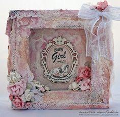 Mistra Hoolahan: Baby Girl Reverse Canvas - Pitter Patter, Kaisercraft