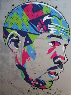 Michael Jordan « Bel Air » impression d'Art numérique